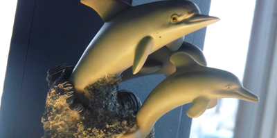 Dolphin Decor   Bay Cafe at Fisherman's Terminal, Seattle WA