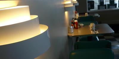 Lighting   Bay Cafe at Fisherman's Terminal, Seattle WA